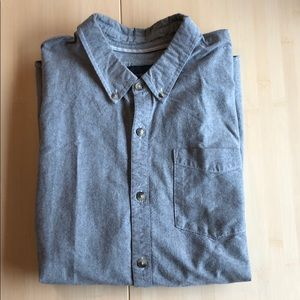 O'Neill men's gray long sleeve button down size M